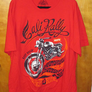 Levi's Cali Rally Motorcycle Graphic Red Shirt XL